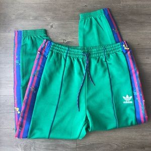 Adidas | NWT Bold Green Floral Track Pants